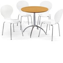 Kimberley Dining Set Natural Table & 4 White Chairs 1/2 Price Deal